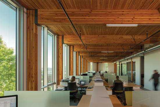 Living Building Certification; The Bullitt Center – Seattle, Washington Architect: The Miller Hull Partnership; WoodWorks Multi-Story Wood Design Award, 2014