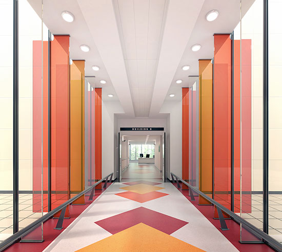 Color in building design helps define spaces, aids in wayfinding, and elicits varying degrees of personal and emotional responses.