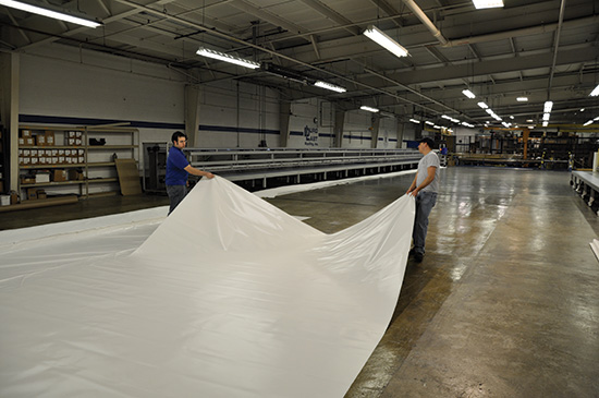 Membranes up to 2,500 square feet can be prefabricated in a factory setting.
