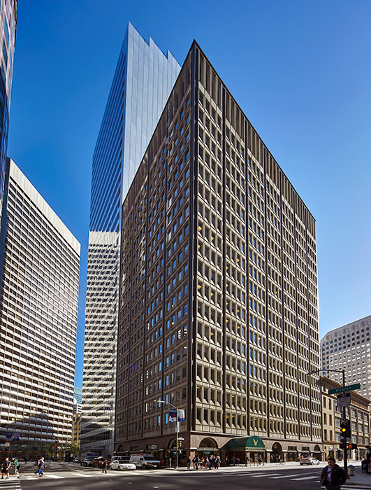 Many San Francisco high-rise buildings are equipped with elevator destination dispatch systems.