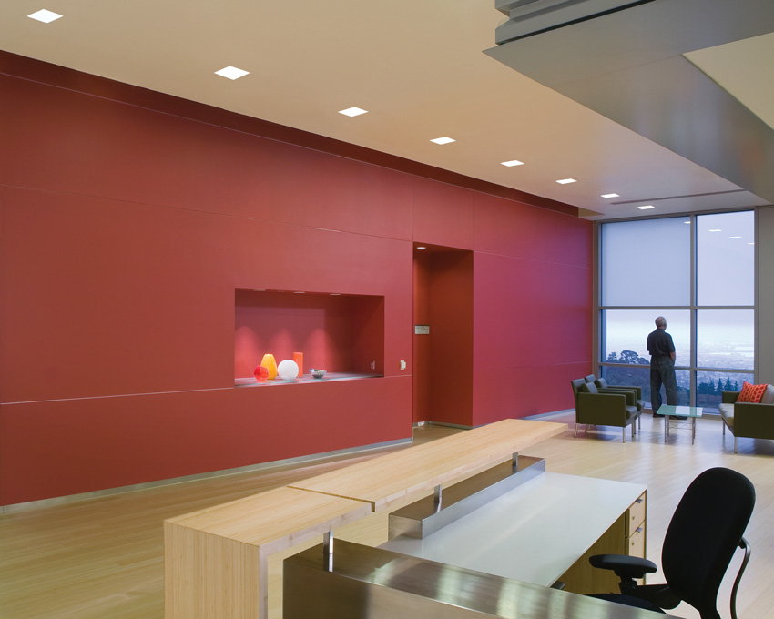 Photo of the reception area of the Lawrence Berkeley National Laboratory.
