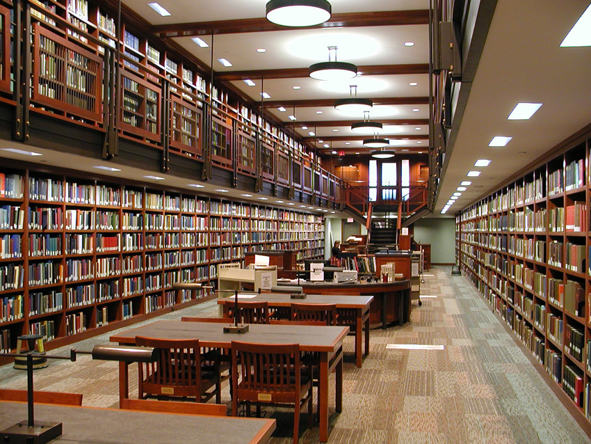 Photo of the Genealogy Library at the National Society of the Sons of the American Revolution .