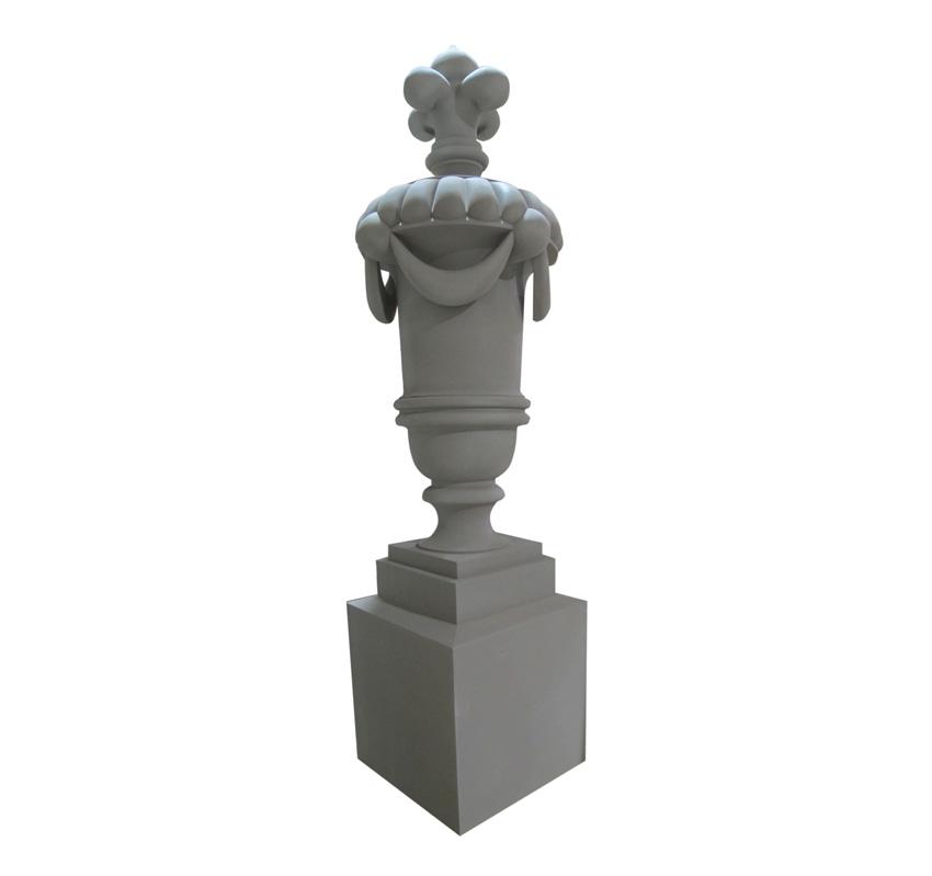 Photo of a molded polyurethane urn.