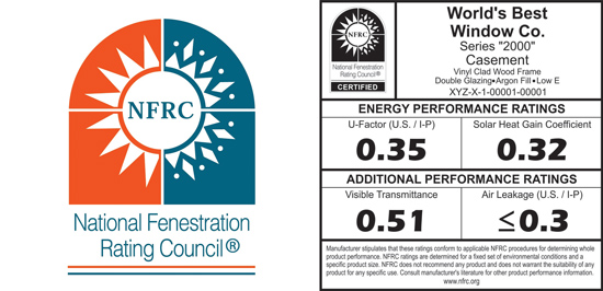 The National Fenestration Rating Council (NFRC) has developed an objective series of standards and testing procedures to rate and compare the total performance of different fenestration products.