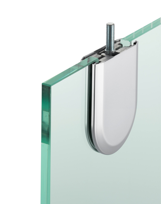 A patch fitting is one of five mounting options for sliding glass panels.