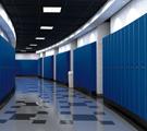 School Hallway Lockers Made of High-Density Polyethylene (HDPE)