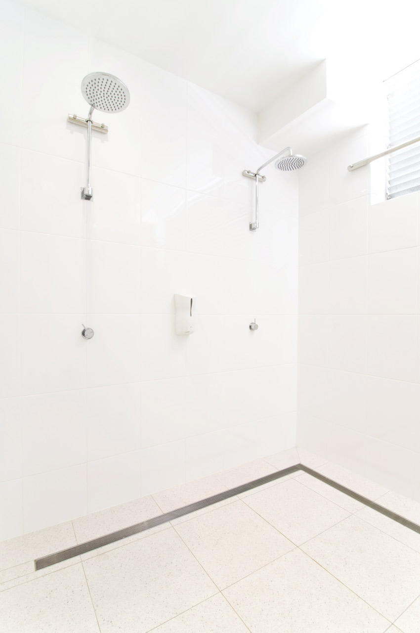 Photo of a shower stall.