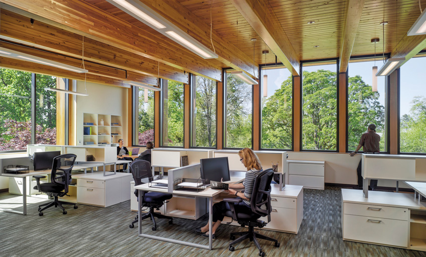 Interior photo of the Innovation Center.
