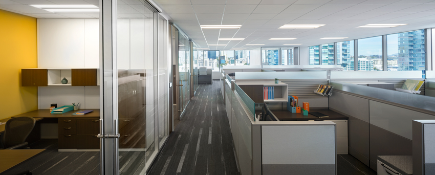 Sempra Energy San Diego, California Carrier Johnson   CULTURE San Diego, California Fine textured ceilings with both high NRC and high CAC