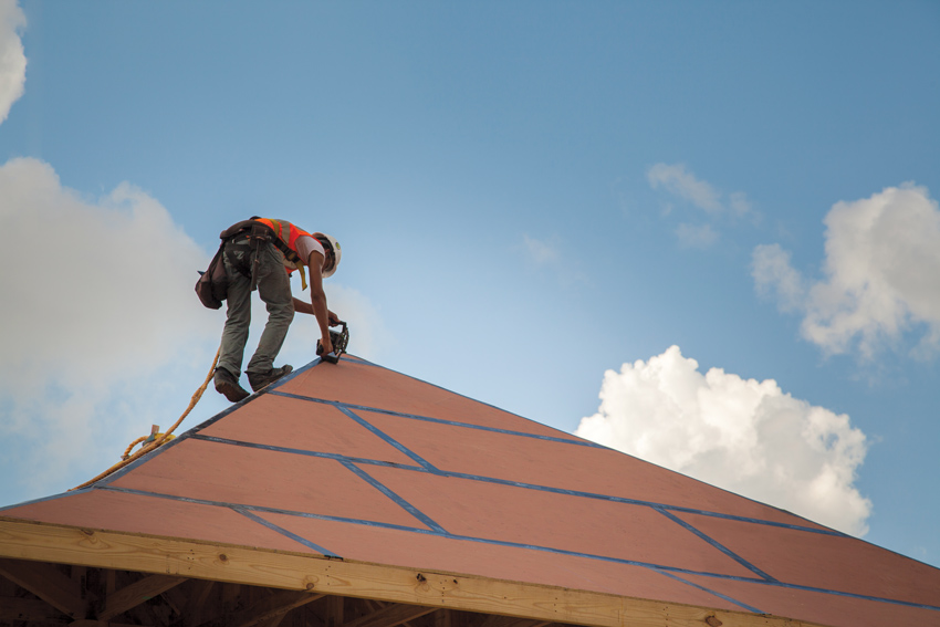Installing high-performance sheathing as part of a wood-framed roofing system can be an important factor in building resiliency and long-term water protection, especially in high-wind prone climate zones.