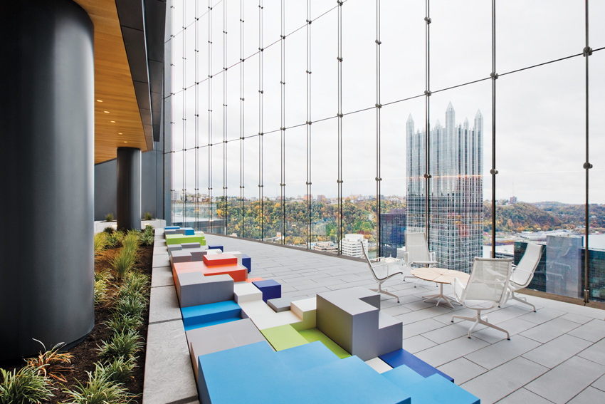 Described as the greenest high-rise in the country, Pittsburgh's Tower at PNC Plaza successfully merges an expansive glass facade with highly energy-efficient technologies.