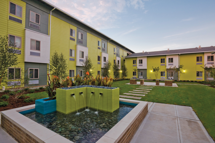 Photo of the New Hope Housing project in Houston.