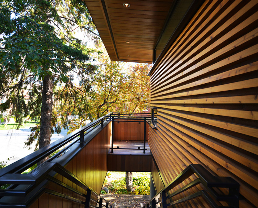 Photo of a cedar exterior of a house.