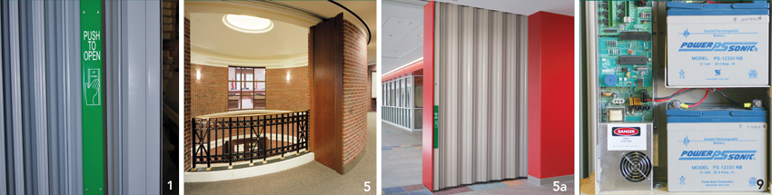 Photos of sliding doors and their hardware.