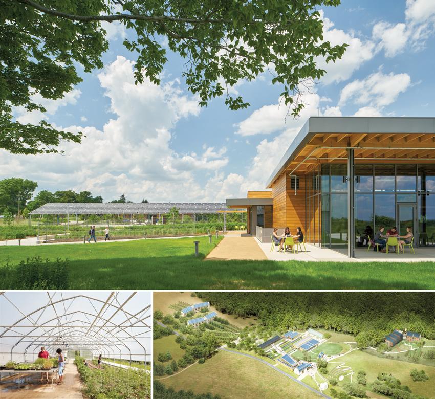 Photos of Chatham University's Eden Hall Campus.