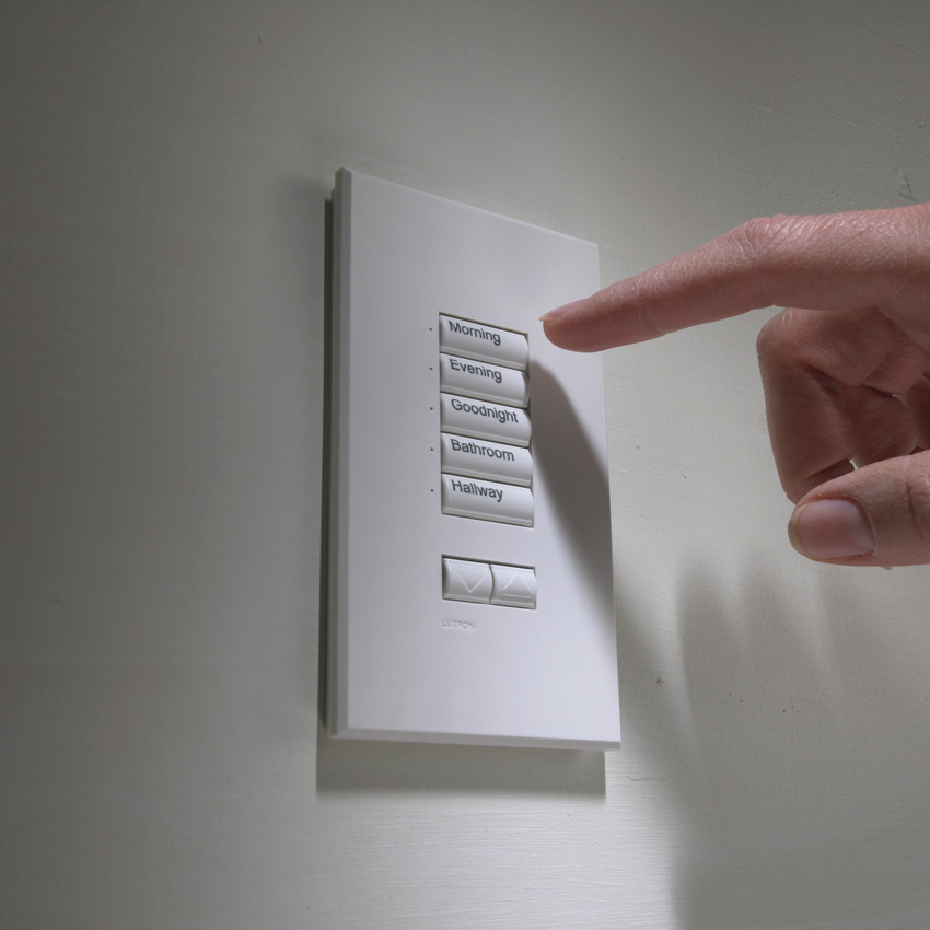 Photo of lighting controls.