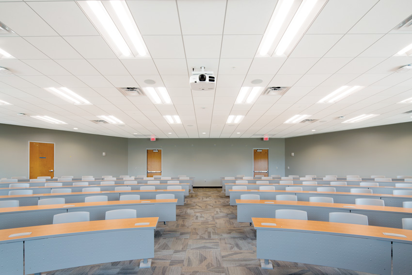 Photo of a lecture room interior.