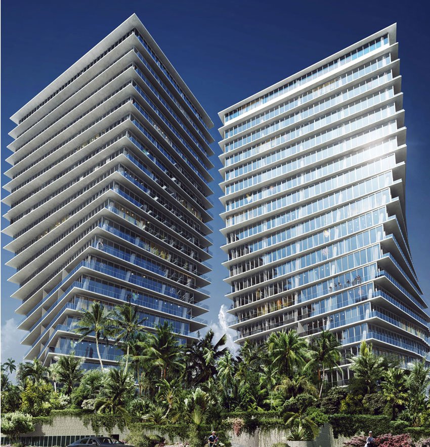 Rendering of the towers at the Grove at Grand Bay.
