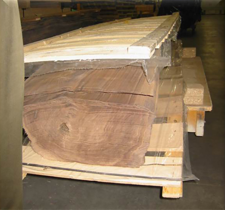 Wood prepared for construction.