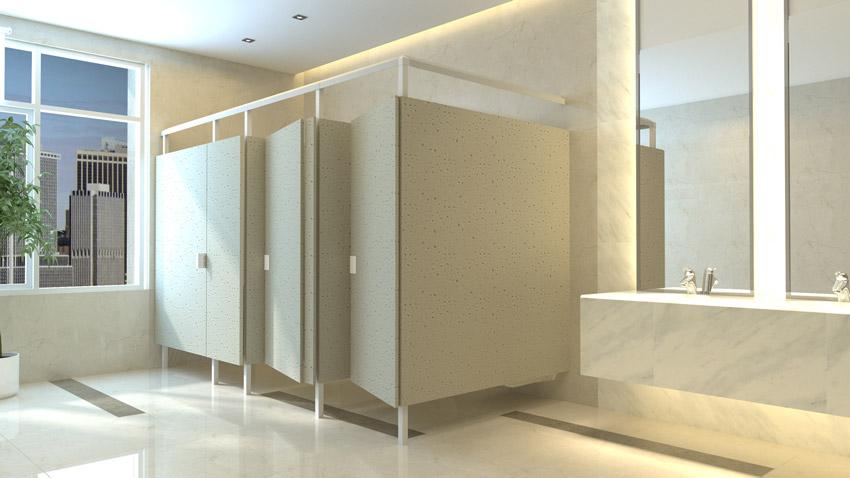 Photo of public bathroom.
