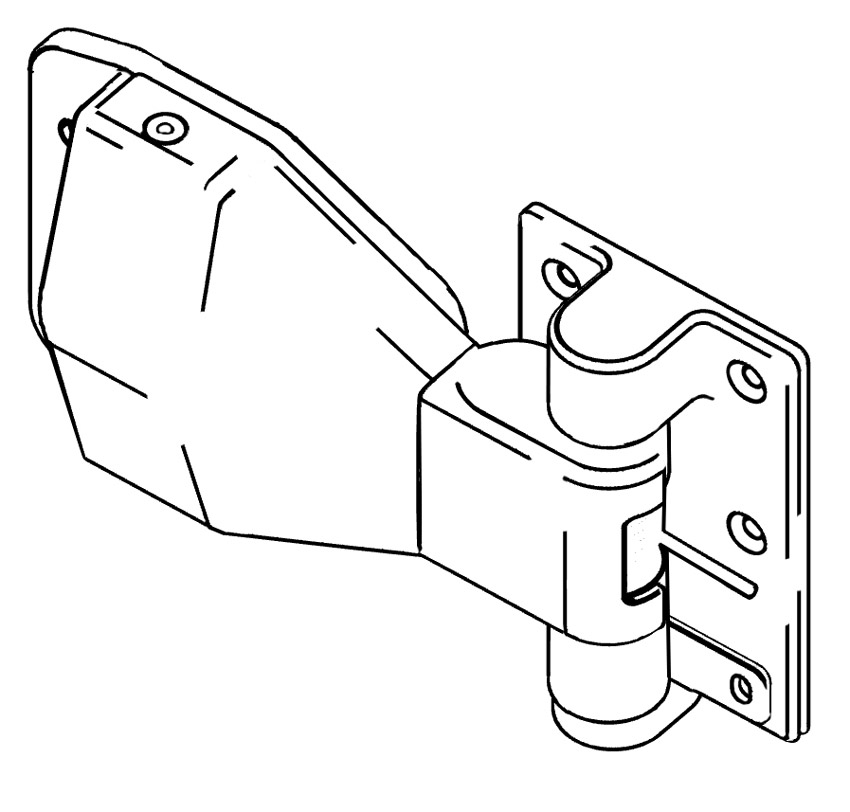 Drawing of the pivot hinge.