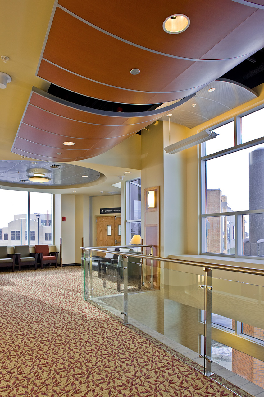 Interior photo of Benefis Health System's ceiling systems.
