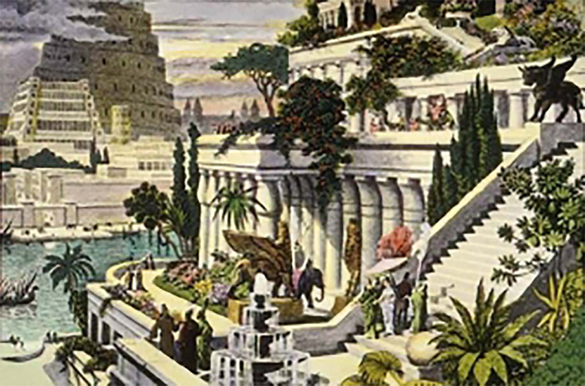 Drawing of the Hanging Gardens.