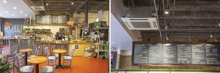 Two photos of interiors with VRF systems.