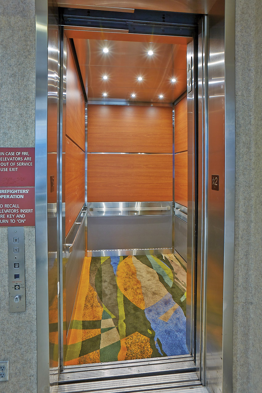 Photo of an elevator.