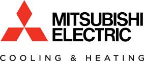 Mistubishi Electric Cooling and Heating logo.