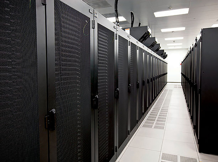 Photo of a data center interior.