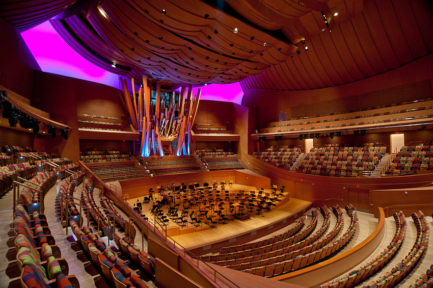 Photo of LA Philharmonic Concert Hall.