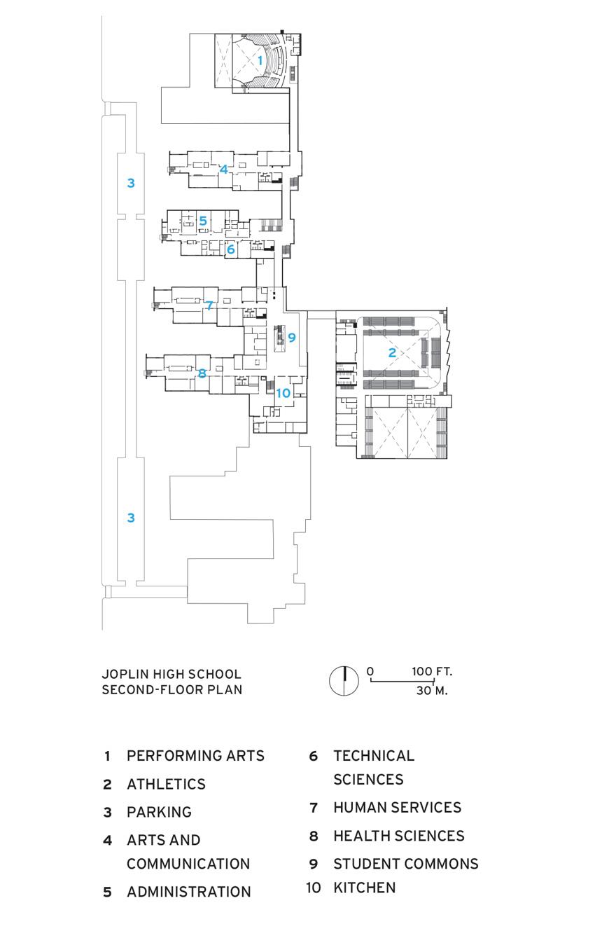 School floor plan.