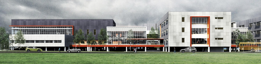 The new Mount Si High School in Snoqualmie, Washington.