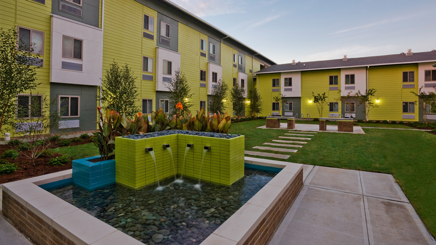 Photo of P4114 Perry affordable housing facility in Houston.