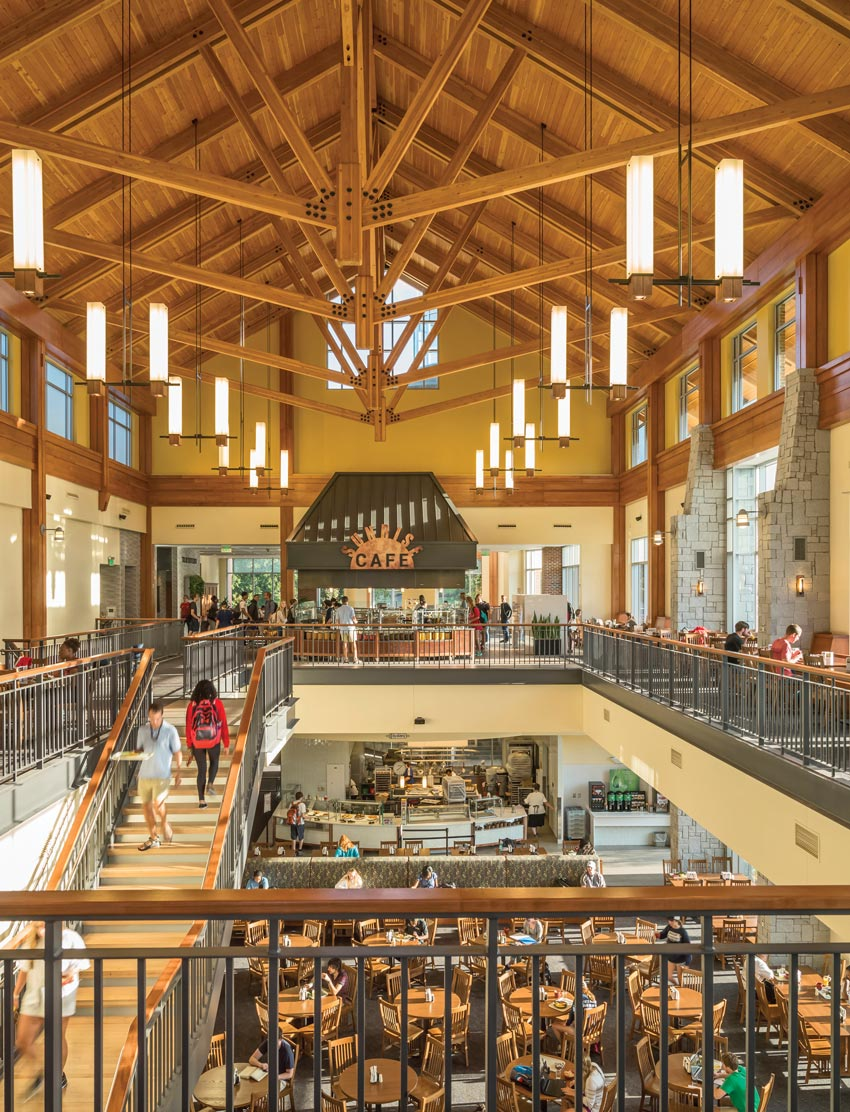 Photo of the dining commons at the University of Georgia.