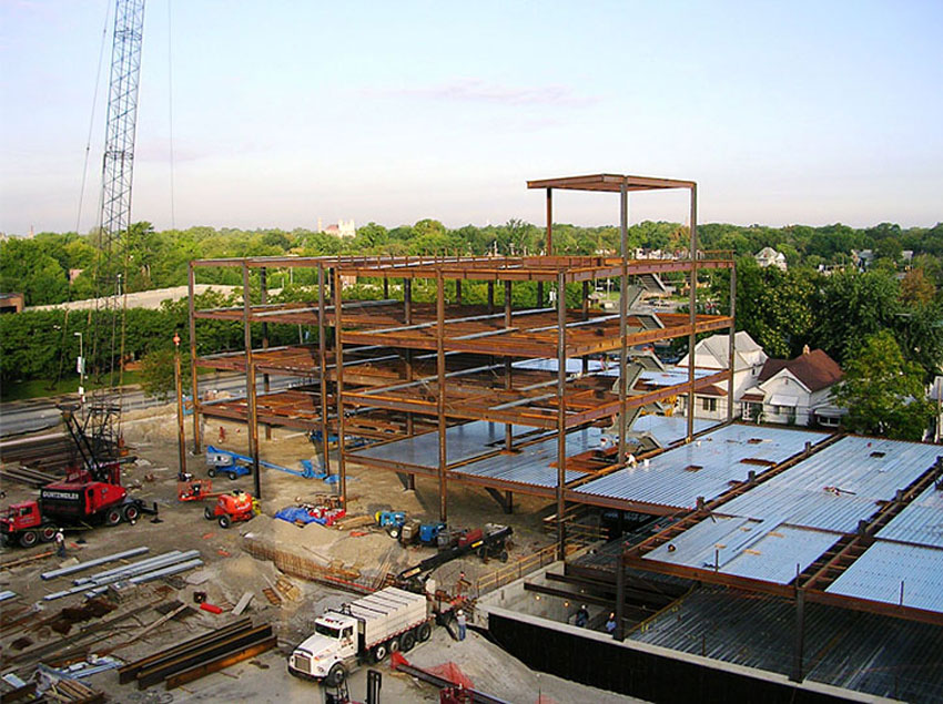 Pictured is the Mercy Heart and Vascular Center in St Vincent, Toledo, Ohio, under construction.