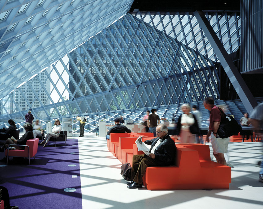 The Seattle Central Library.