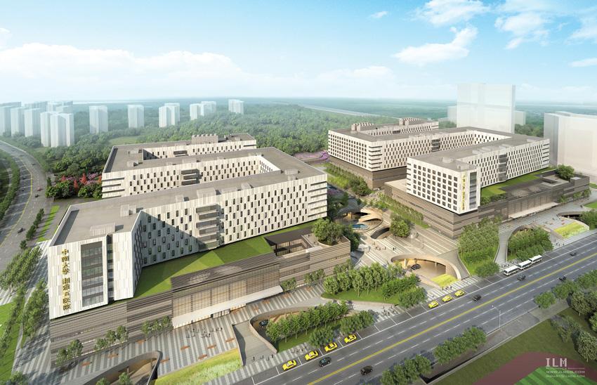 Rendering of Fifth XiangYa Hospital.