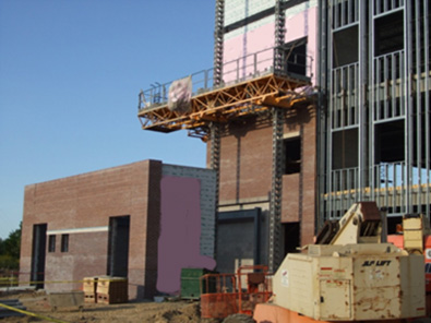 Photo of a building under construction.
