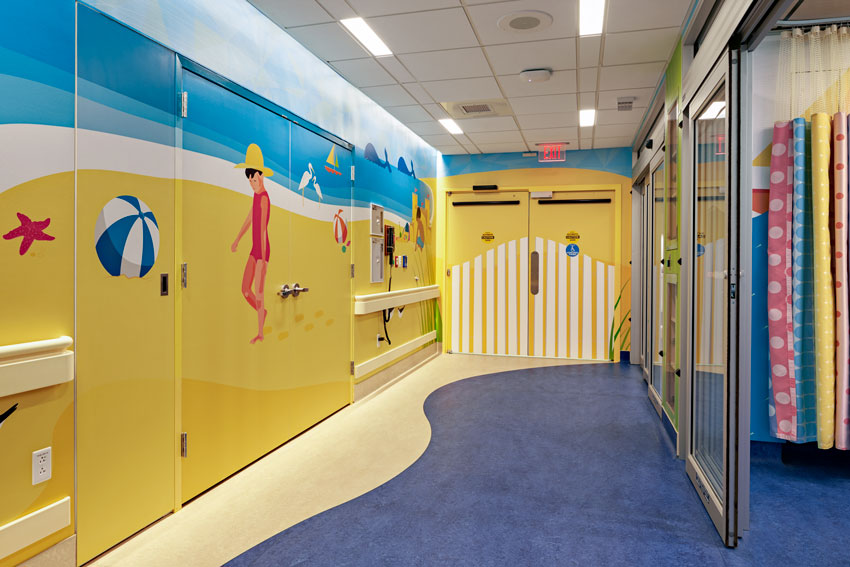 Interior photo of Yale-New Haven Children's Hospital Pediatric MRI Unit.