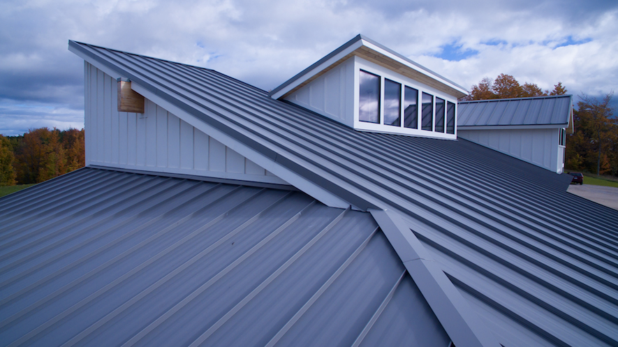 Photo of a metal roof.