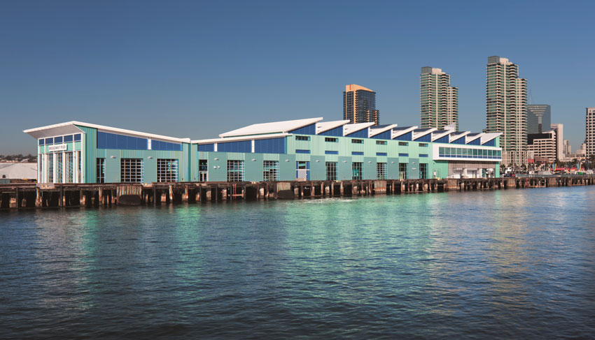 Photo of Port Pavilion on Broadway Pier in San Diego.
