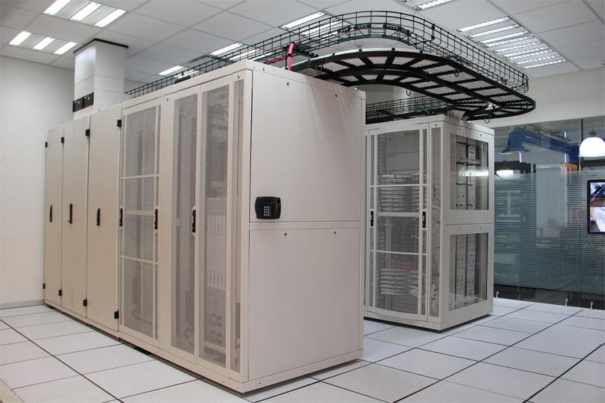 Data center interior.