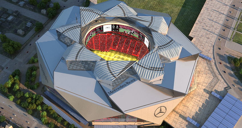 Photo of Mercedes Benz Stadium.