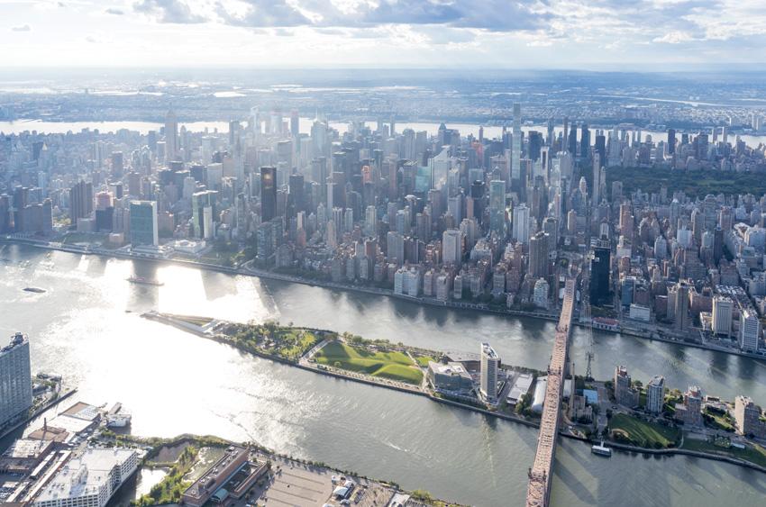 Photo of skyline in New York.