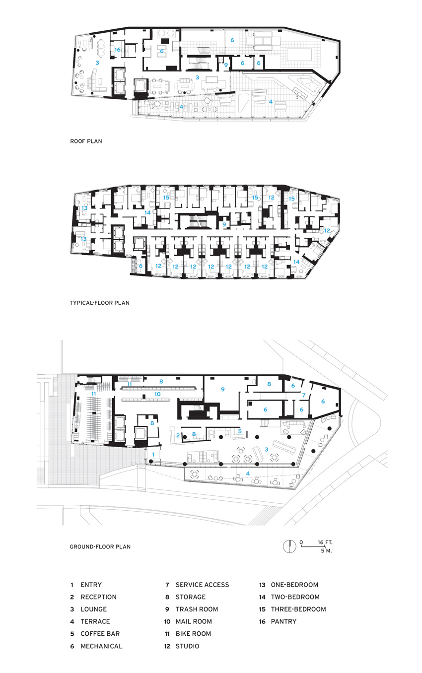 Photo of The House's site plan.
