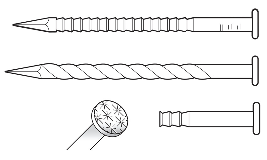 Photo of different screw fastenings.