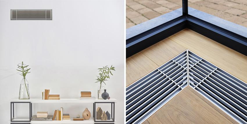 Photo of wood or metal grilles in cgreen buildings.