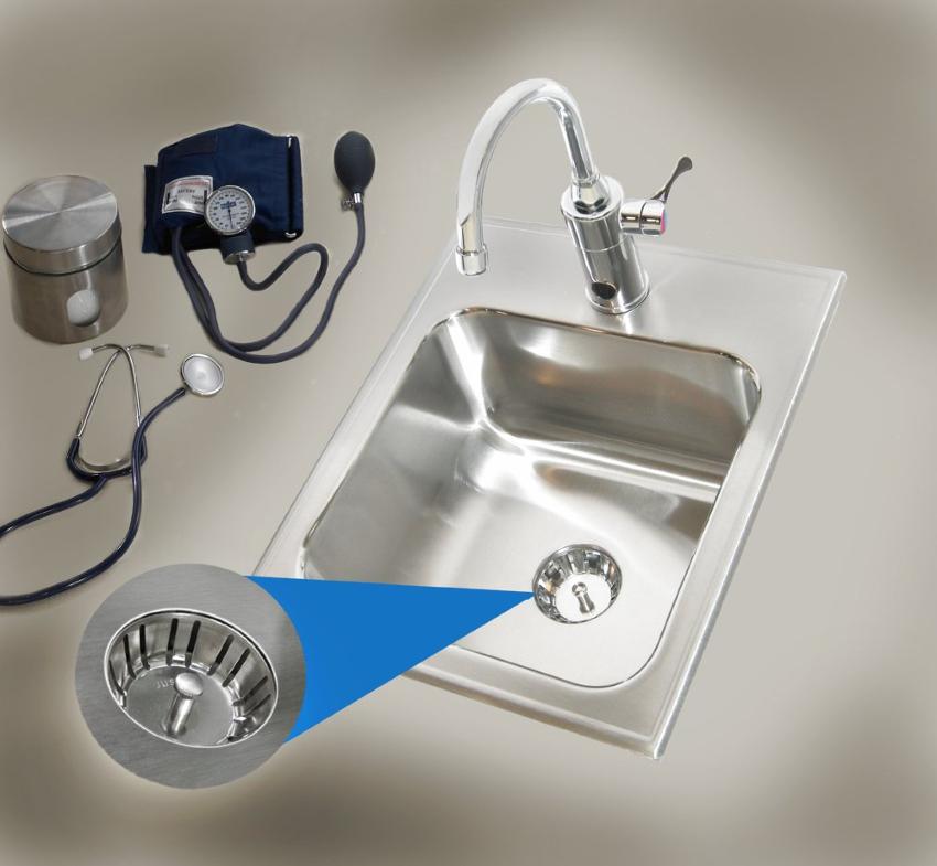 Photo of seamless die-drawn sink